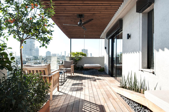 Duplex Penthouse de Toledano +Architects | Pièces d'habitation