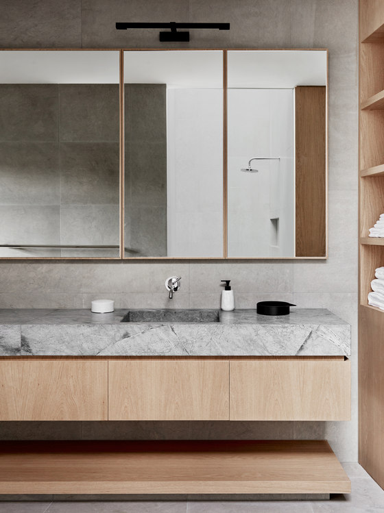 Toorak2 house by robson rak architects living space for Detail in contemporary bathroom design