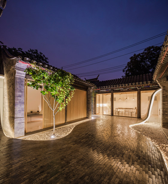 Twisting Courtyard by ArchStudio | Detached houses