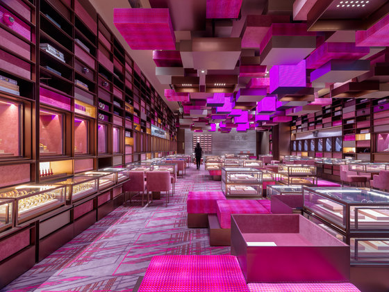 Yoho Mall Chow Tai Fook Experience Shop de One Plus Partnership | Intérieurs de magasin