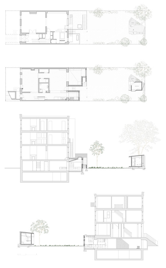 Blurring Boxes by Architensions | Detached houses