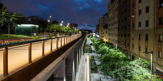 Raised gardens of Sants in Barcelona by Sergi Godia | Railway stations