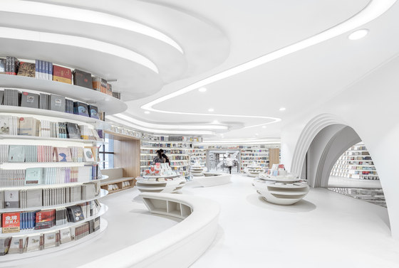 White Comedy of Xi'an Zhongshu Bookstore by Wutopia Lab | Shop interiors