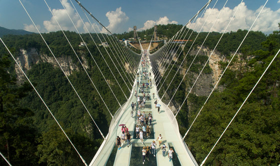 zhangjiajie grand canyon glass bridge by haim dotan ltd bridges - Zhangjiajie Glass Bridge