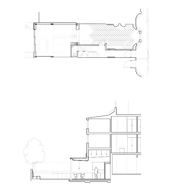 Highbury House Extension by Architecture for London   Semi-detached houses
