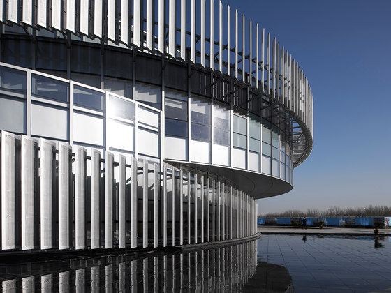 Exhibition Center of Zhengzhou Linkong Biopharmaceutical Park by WSP ARCHITECTS | Office buildings