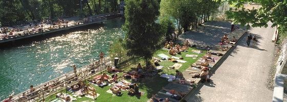 Promenade und Flussbad Lettenareal   Parks   Krebs und Herde Landschaftsarchitekten