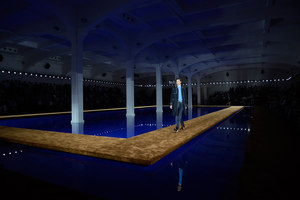 Catwalk for Prada Menswear Spring/Summer 2015 collection | Temporary structures | OMA/AMO