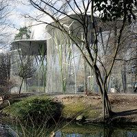 Birdcage for exotic birds in a public garden   Parks   group8
