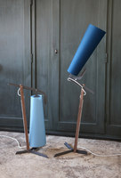 la grande  // room lamp // steel, walnut & textil | Short runs | Reinhard Dienes