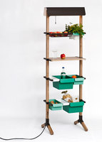 Sunday // Kitchen Grocery // Wood and bended steel  180 x 55 x 35 cm | Prototypes | Reinhard Dienes
