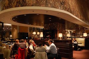 Cappa Mazzoniana, Convoglia restaurant (Stazione Termini) | Café interiors | Maurizio Rossi Lighting Design