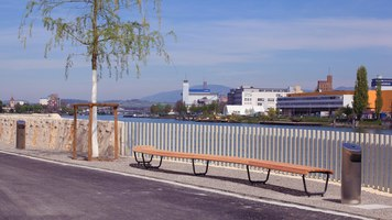 New Rhine promenade in St. Johann, Basel | Manufacturer references | BURRI