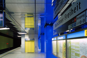 Münchner Freiheit subway station | Railway stations | Ingo Maurer