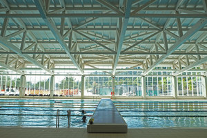 New Swimming Stadium at the Parco della Gioventù Sports Complex | Manufacturer references | Casalgrande Padana