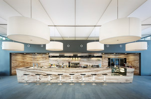 Light ceiling for forecourt and foyer of FBC office tower | Manufacturer references | Sefar