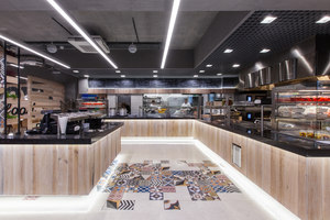 Restaurant in LIDL headquters | Restaurant interiors | mode:lina architekci