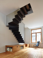 Renovating, splitting and extending a Brussels terraced-house | Living space | Martens-Brunet Architects