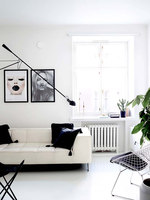 Clean & Monochromatic Helsinki Home | Living space | Laura Seppänen Design Agency