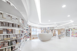 White Comedy of Xi'an Zhongshu Bookstore | Shop interiors | Wutopia Lab
