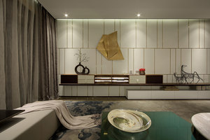House project in Building No. 67 of Zhengkai Olive City | Living space | Qianxun Decorative Art and Design Co.