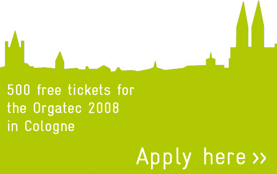 Win free entrance tickets to Orgatec 2008 in Cologne