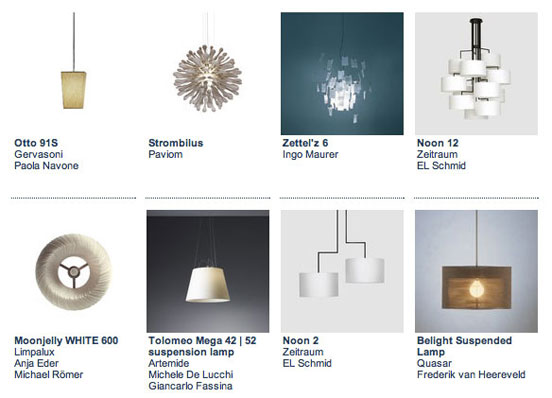 Architonic Products & Materials: Inspiring search results N° 2