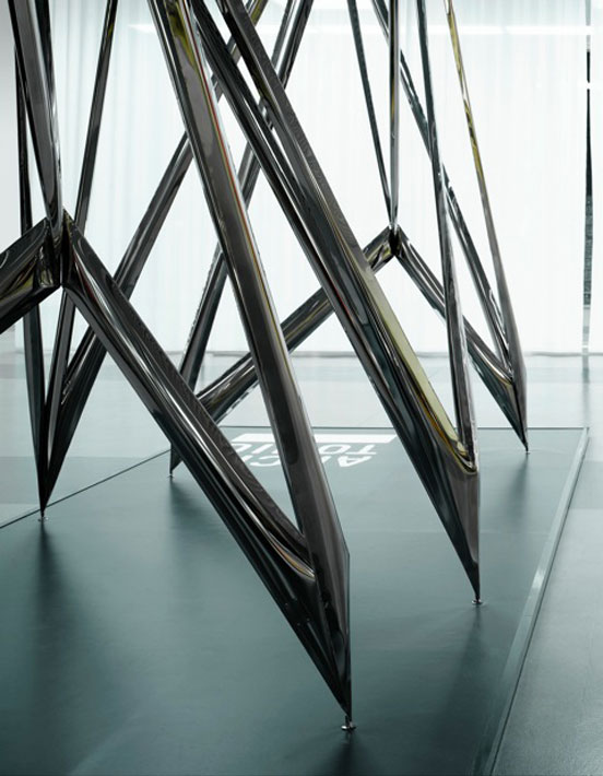 For the first time at swissbau: Architonic's Concept Space by Oskar Zieta