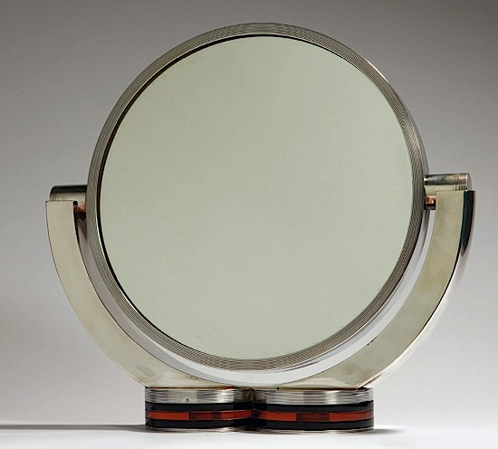 Miroir de table de toilette