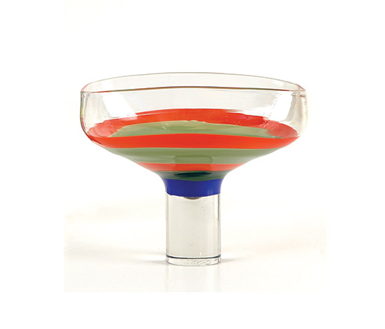 """Philips"" glass bowl di Boetto"