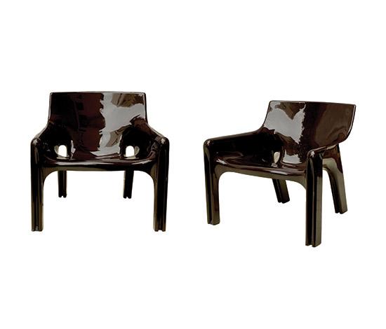 """Gaudì"" fiberglass / polyester armchair"