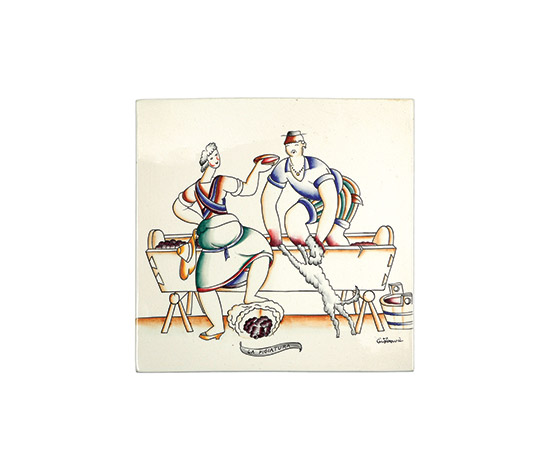 """La pigiatura"" ceramic tile by Boetto"
