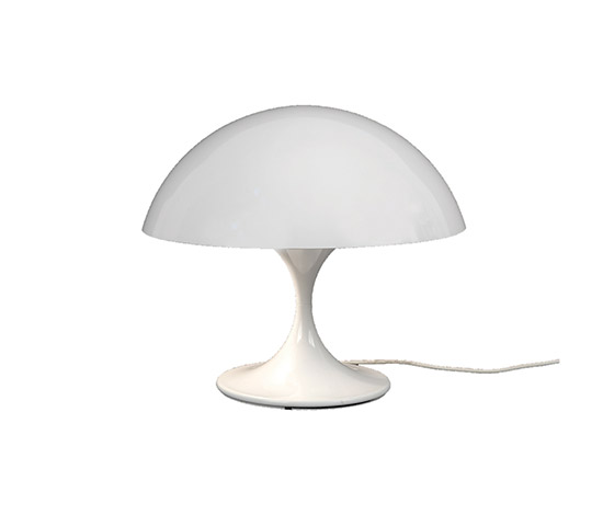 "White metal table lamp ""670"""