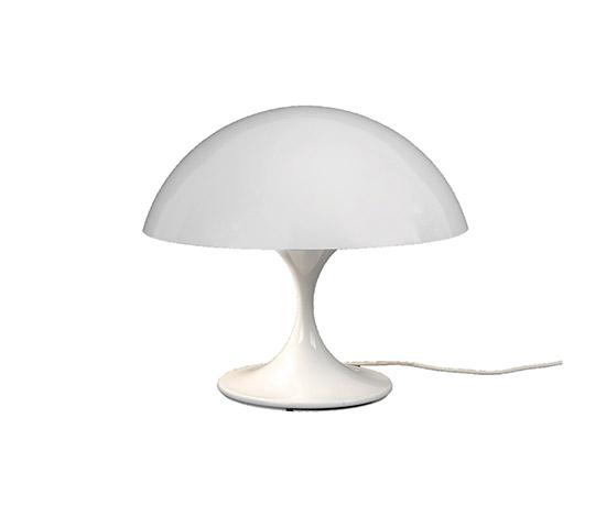 """White metal table lamp """"670"""" di Boetto"""