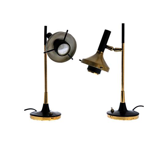 Pair of metal table Lamps di Boetto