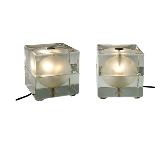 "Two ""Cubosfera"" table lamps"