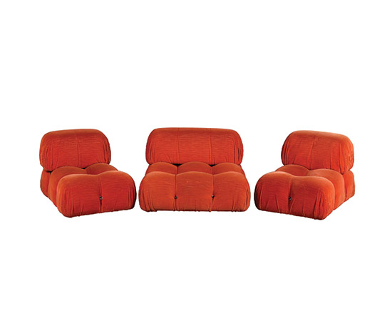 "Three ""Camaleonda"" lounge chairs de Boetto"