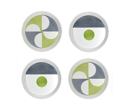 "Four ceramic plates ""Fantasia Italiana"" by Boetto"