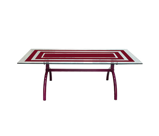 Glass and steel table de Boetto