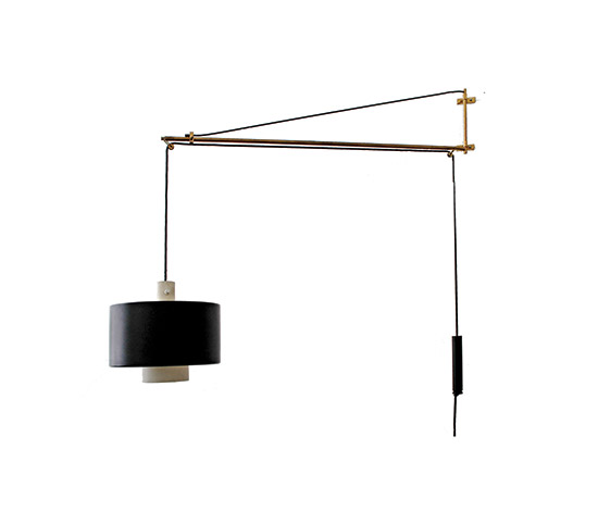 Wall lamp, height adjustable