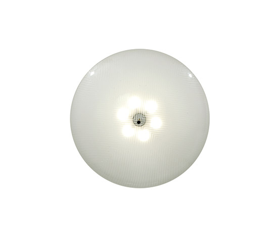 Large glass ceiling lamp