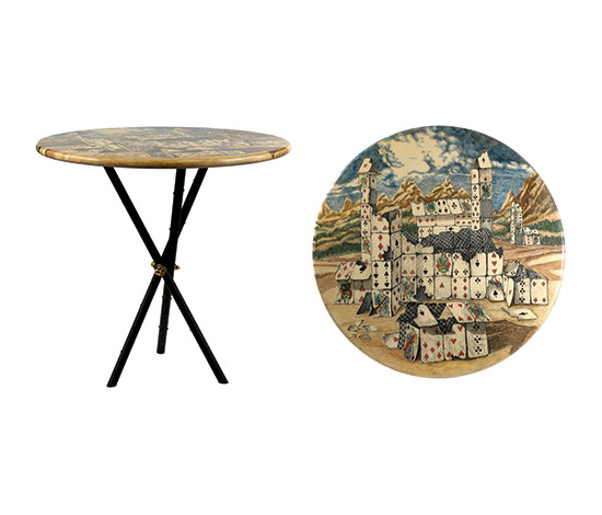 """Città di carte"" small table de Boetto"