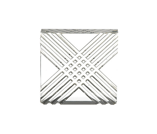 """Diagonale"" glass ashtray"