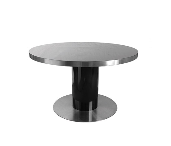 Round stainless steel table di Boetto