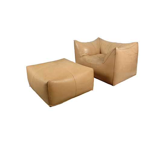 """Le Bambole"" armchair with ottoman"