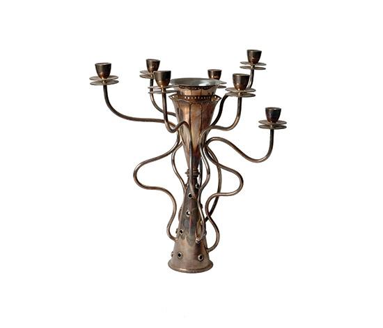 """""""Simon"""" silver-plated candelabra"""