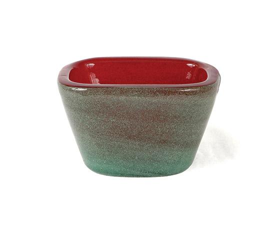 Boetto-Bicolour Murano glass bowl