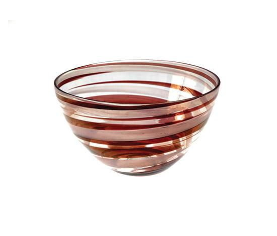 """Boetto-Murano glass bowl """"a pennellate"""""""