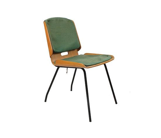 """Lucania"" metal and plywood chair de Boetto"
