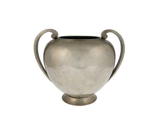 Large silver vase
